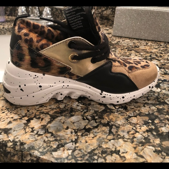 payless leopard sneakers